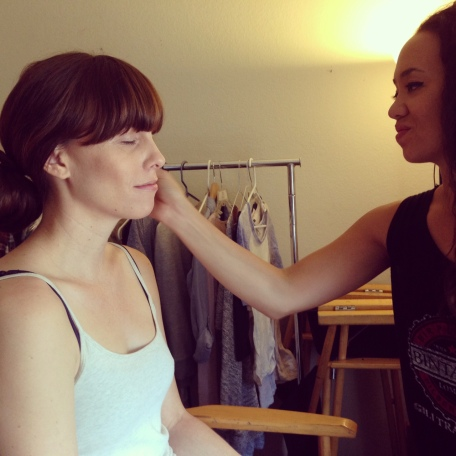 Getting my makeup done by Sara Tagaloa