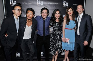 At the Los Angeles Film Festival premiere of Crush the Skull with Chris Dinh, Tim Chiou, Chris Riedell, Katie Savoy, and Walt Bost