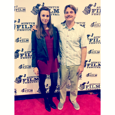 My brother Robby and I before the screening of The Week